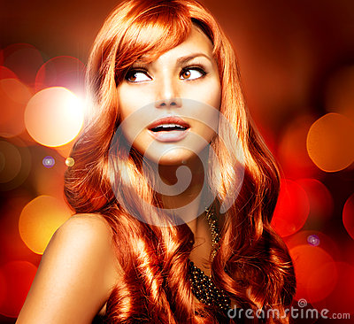 Free Beautiful Girl With Red Hair Stock Image - 26467261