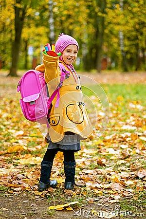 Beautiful girl in yellow jacket