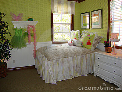 Beautiful Girls Bedroom Stock Image - Image: 14401821