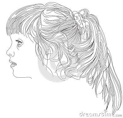 Beautiful girls face