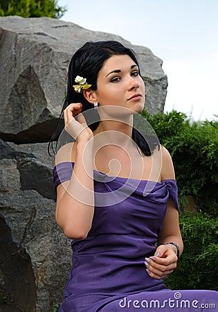 Beautiful glamorous woman