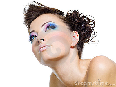 Beautiful  glamour brightly make-up