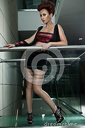 Beautiful glamour girl posing