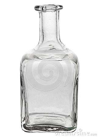 Free Beautiful Glass Bottle With Curved Edges Royalty Free Stock Photo - 63856205