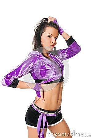 Free Beautiful Go-go Dancer On White Stock Photos - 14952793