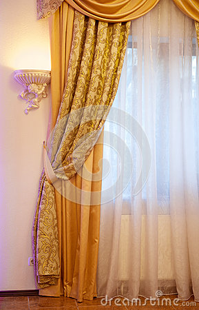 Beautiful gold curtain