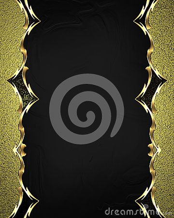 Free Beautiful Gold Frame With Gold Ornaments On Black Background. Element For Design. Template For Design. Copy Space For Ad Brochure Royalty Free Stock Photos - 65408718