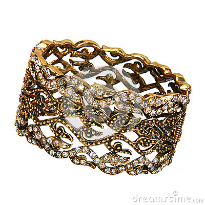 Beautiful golden bracelet