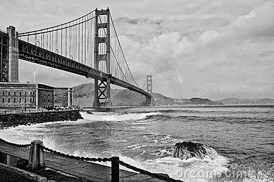 Beautiful golden gate bridge in san francsico