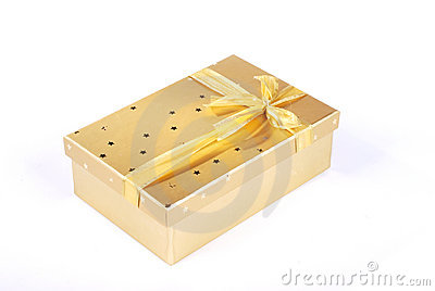 Beautiful golden gift box