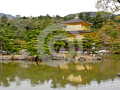 Beautiful golden pavilion