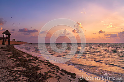 Sunrise Over Cancun Beach