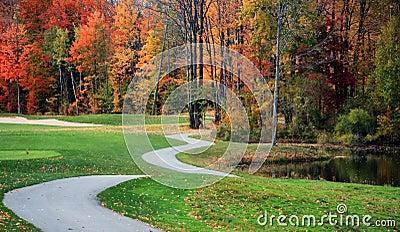 Beautiful Golf Course in Fall