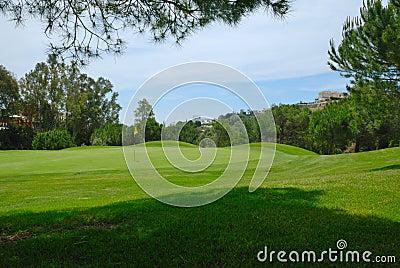Beautiful golf hole