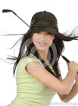 Beautiful golfer girl,