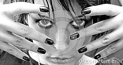 Beautiful Goth Woman