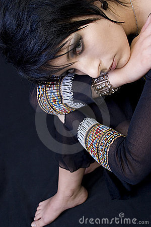 Beautiful Goth Woman Angles