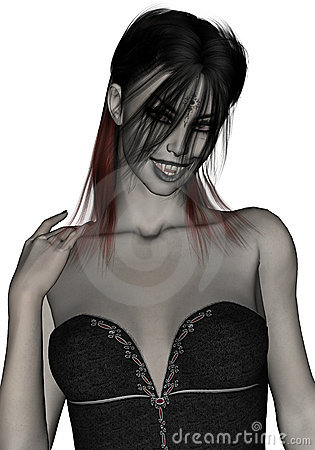 Beautiful, gothic, sexy female vampire