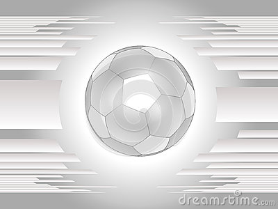 Beautiful gray soccer ball background