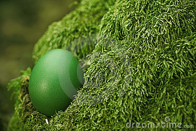 Beautiful green Easter egg