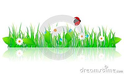Beautiful green spring illustration