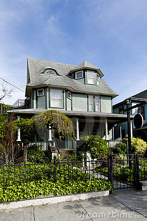 Beautiful green Victorian home