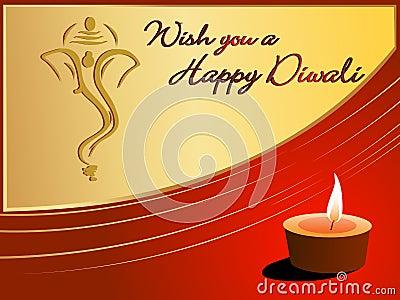 Beautiful greeting card for happy deepawali