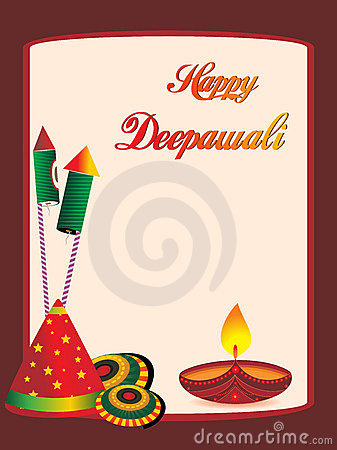 Greeting cards on diwali wblqual beautiful greeting cards for diwali celebration stock image greeting card stopboris Choice Image