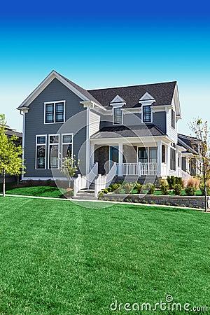 Beautiful Grey Cape Cod Style Home