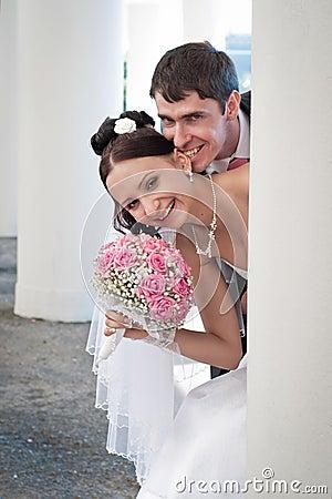 Beautiful groom and bride