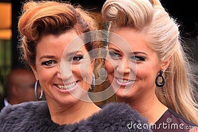 Beautiful hair models Editorial Photo