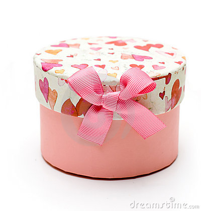 Beautiful hand-made pink gift box