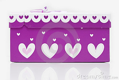 Beautiful hand-made purple gift box