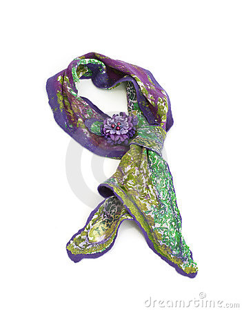 Beautiful handwork scarf with brooch