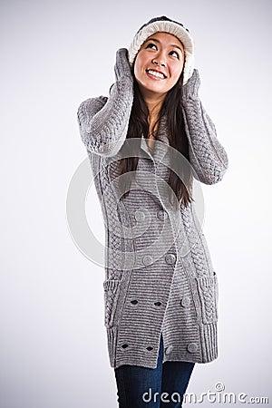 Beautiful happy asian woman