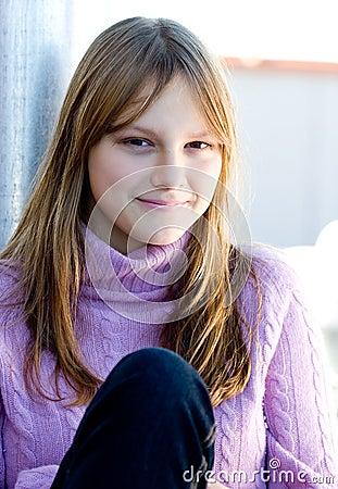 Beautiful happy smiling young teen girl portrait
