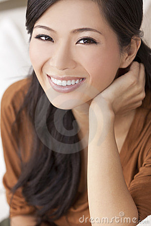 Beautiful Happy Young Asian Chinese Woman or Girl