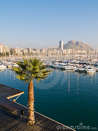 Beautiful harbor in Alicante