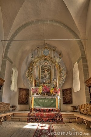 Beautiful HDR photo of a church interior