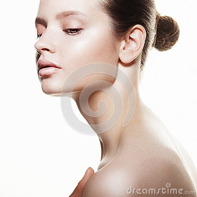 Free Beautiful Health Woman Face With Clean Purity Skin Royalty Free Stock Photos - 106615148