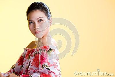 Beautiful healthy asian young women