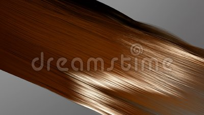 3d animation hair coloring, professional coloring and hair care, beauty business. Hair coloring stock footage