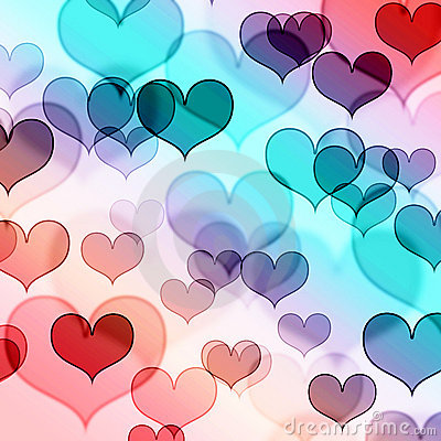 Beautiful heart shape background
