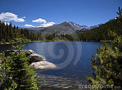 Beautiful High Mountain Lake
