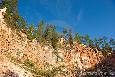 Beautiful hilly landscape of the timber canyon