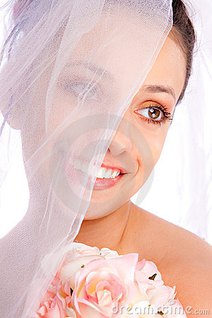 Beautiful Hispanic Bridal Portrait Closeup