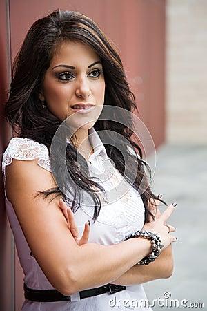 Beautiful hispanic businesswoman