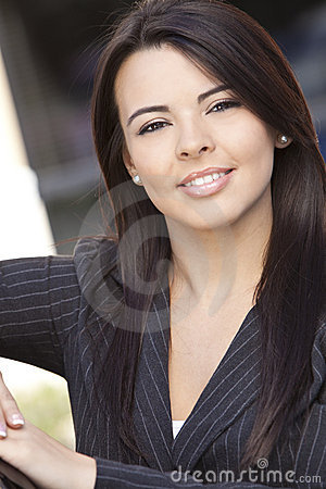 Beautiful Hispanic Woman Or Businesswoman Smiling