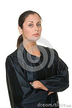 Beautiful Hispanic Woman Judge