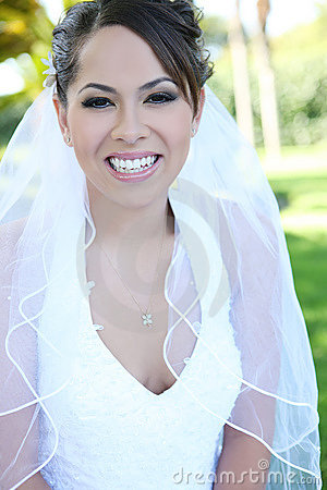 Beautiful Hispanic Woman at Wedding